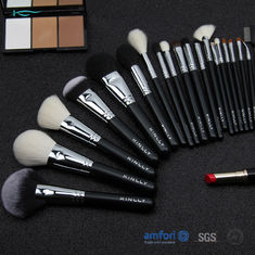 Black 20pcs Cooper Ferrules Makeup Set With Brushes